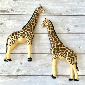 Large Giraffe Animal Toy 12in Figures Set of 2